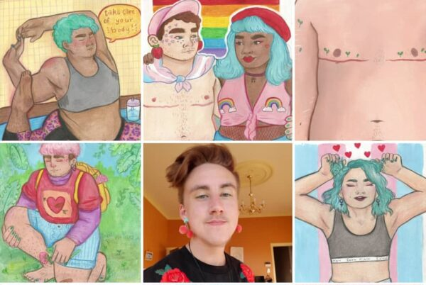 Teddy Paints: Cheerful, wholesome, diverse Trans pride!